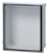Polycarbonate UL listed NEMA 4, 4X, 6, 6P, 12, 13 IP66/IP67 Hinged screw cover base with 10-32 brass inserts, transparent cover with formed in place PUR gasket, stainless hinge pin and 2 cover screws. Enclosure mounting foot kit. Accessory 10-32 screws for panel mounting. NEMA 4, 4X, 6, 6P, 12, 13